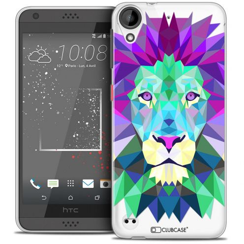 Extra Slim Crystal Gel HTC Desire 530/630 Case Polygon Animals Lion