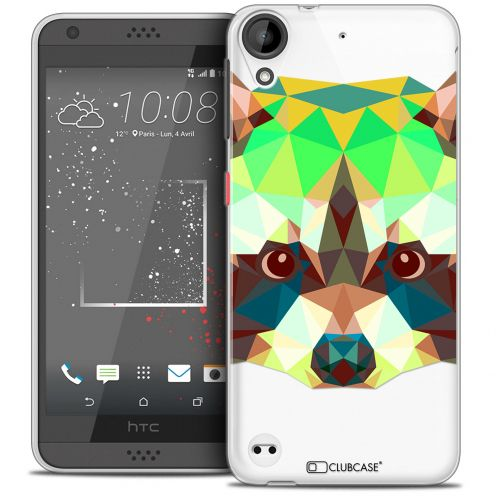 Extra Slim Crystal Gel HTC Desire 530/630 Case Polygon Animals Racoon