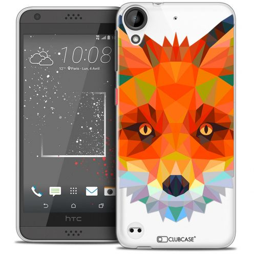 Extra Slim Crystal Gel HTC Desire 530/630 Case Polygon Animals Fox