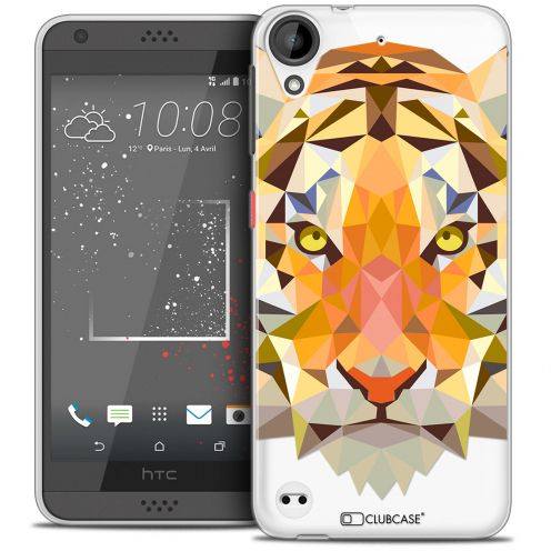 Extra Slim Crystal Gel HTC Desire 530/630 Case Polygon Animals Tiger