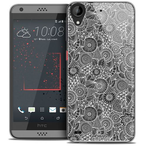 Extra Slim Crystal Gel HTC Desire 530/630 Case Floral Lace Collection - White