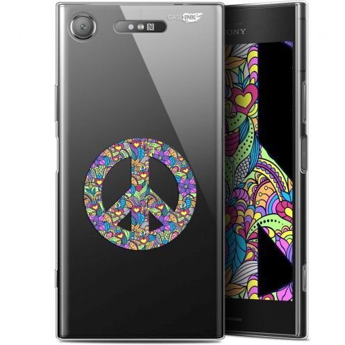 "Extra Slim Gel Sony Xperia XZ1 (5.2"") Case Design Peace And Love"