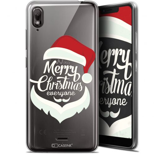 "Extra Slim Gel Wiko View 2 GO (5.93"") Case Noël 2017 Merry Everyone"