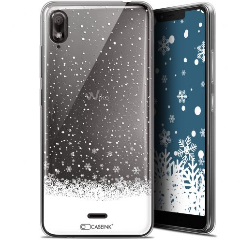 "Extra Slim Gel Wiko View 2 GO (5.93"") Case Noël 2017 Flocons de Neige"