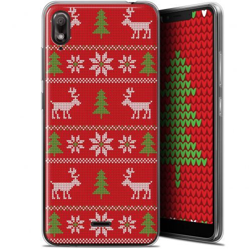 "Extra Slim Gel Wiko View 2 GO (5.93"") Case Noël 2017 Couture Rouge"