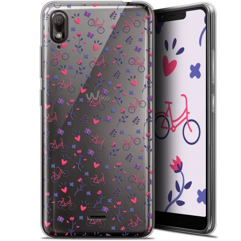 """Extra Slim Gel Wiko View 2 GO (5.93"""") Case Love Bicycle"""