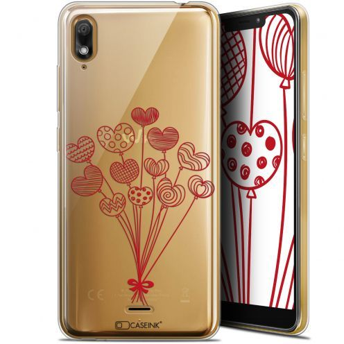 """Extra Slim Gel Wiko View 2 GO (5.93"""") Case Love Ballons d'amour"""