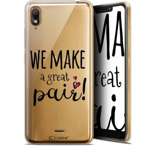 "Extra Slim Gel Wiko View 2 GO (5.93"") Case Love We Make Great Pair"