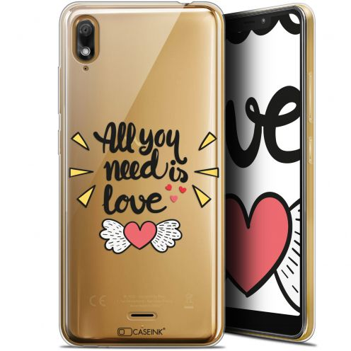 "Extra Slim Gel Wiko View 2 GO (5.93"") Case Love All U Need Is"
