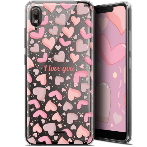 "Extra Slim Gel Wiko View 2 GO (5.93"") Case Love I Love You"