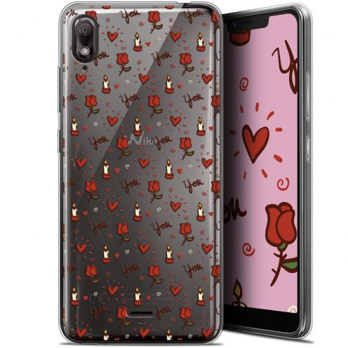 "Extra Slim Gel Wiko View 2 GO (5.93"") Case Love Bougies et Roses"