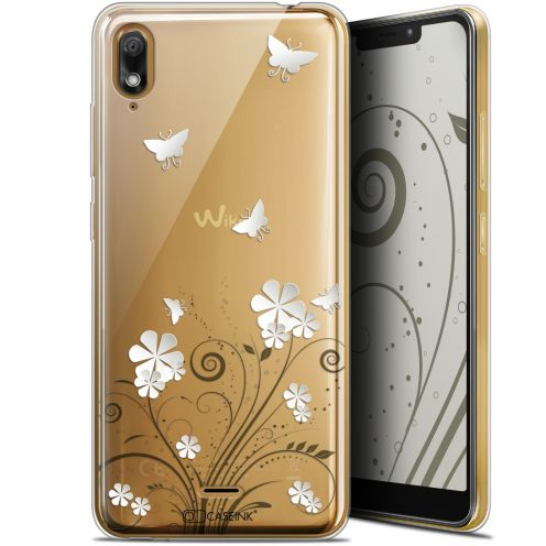 "Extra Slim Gel Wiko View 2 GO (5.93"") Case Summer Papillons"