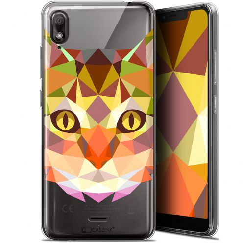 "Extra Slim Gel Wiko View 2 GO (5.93"") Case Polygon Animals Cat"