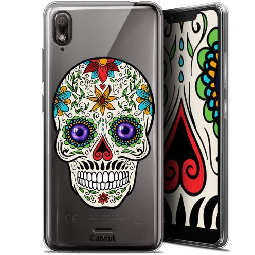 "Extra Slim Gel Wiko View 2 GO (5.93"") Case Skull Maria's Flower"