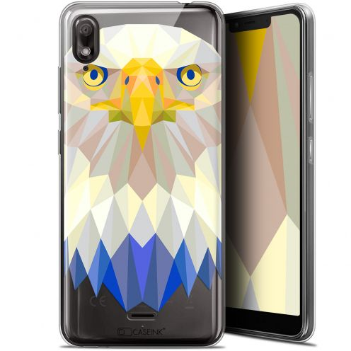 "Extra Slim Gel Wiko View 2 GO (5.93"") Case Polygon Animals Eagle"