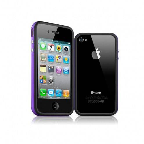 Bumper HQ black / purple for iPhone 4 S / 4
