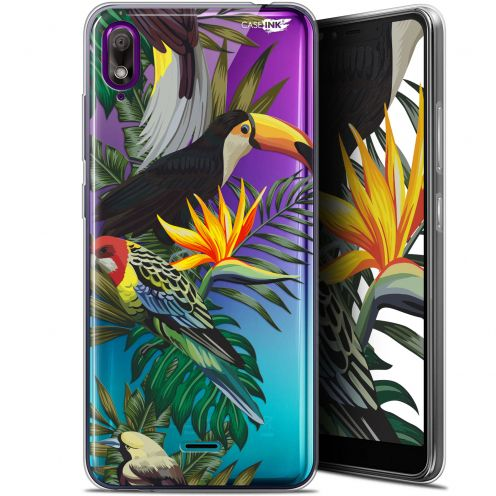 "Extra Slim Gel Wiko View 2 GO (5.93"") Case Design Toucan Tropical"