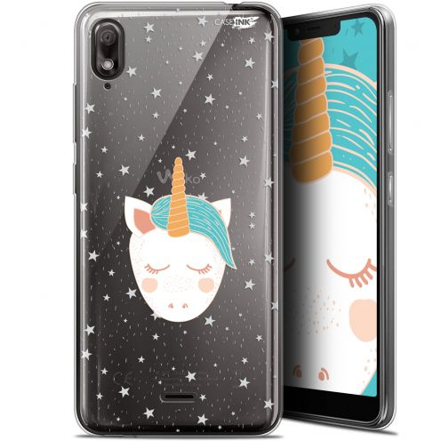 "Extra Slim Gel Wiko View 2 GO (5.93"") Case Design Licorne Dors"