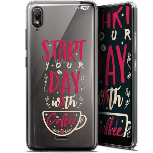 "Extra Slim Gel Wiko View 2 GO (5.93"") Case Design Start With Coffee"