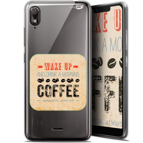 "Extra Slim Gel Wiko View 2 GO (5.93"") Case Design Wake Up With Coffee"