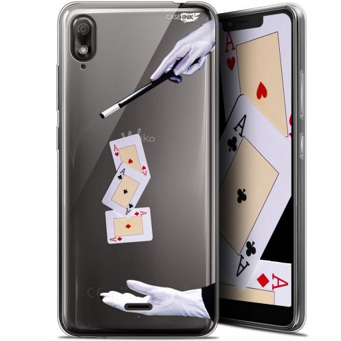 "Extra Slim Gel Wiko View 2 GO (5.93"") Case Design Cartes Magiques"