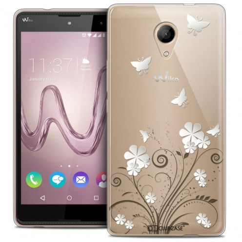 Extra Slim Crystal Gel Wiko Robby Case Summer Papillons