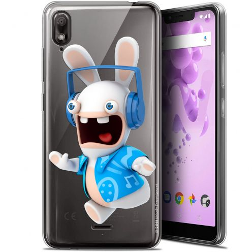 """Gel Wiko View 2 GO (5.93"""") Case Lapins Crétins™ Techno Lapin"""