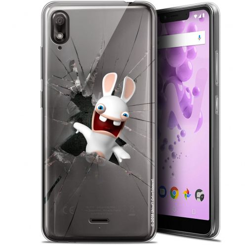 """Gel Wiko View 2 GO (5.93"""") Case Lapins Crétins™ Breaking Glass"""