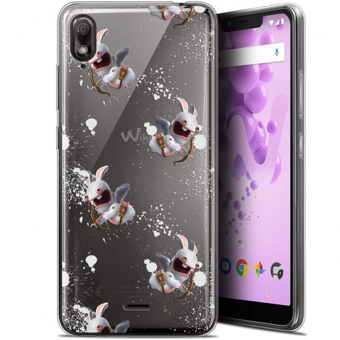 """Gel Wiko View 2 GO (5.93"""") Case Lapins Crétins™ Cupidon Pattern"""