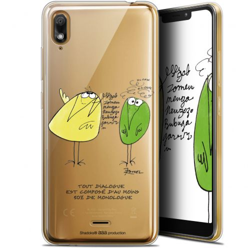 """Extra Slim Gel Wiko View 2 GO (5.93"""") Case Les Shadoks® Le Dialogue"""
