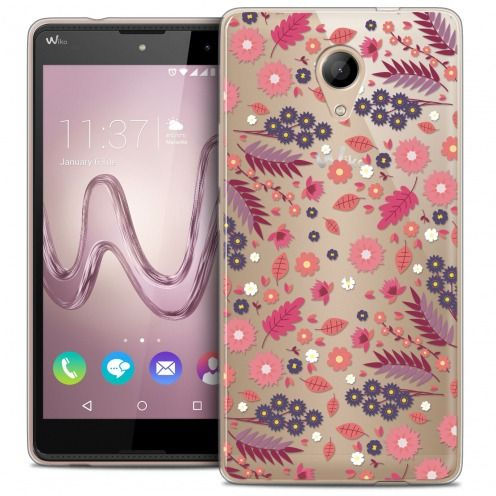 Extra Slim Crystal Gel Wiko Robby Case Spring Floraison