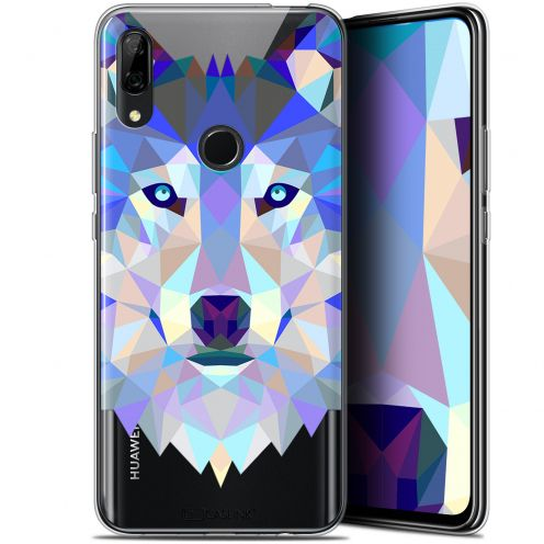 "Extra Slim Gel Huawei P Smart Z (6.6"") Case Polygon Animals Wolf"