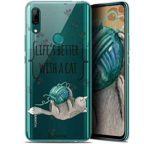 """Extra Slim Gel Huawei P Smart Z (6.6"""") Case Quote Life's Better With a Cat"""