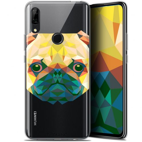 "Extra Slim Gel Huawei P Smart Z (6.6"") Case Polygon Animals Dog"