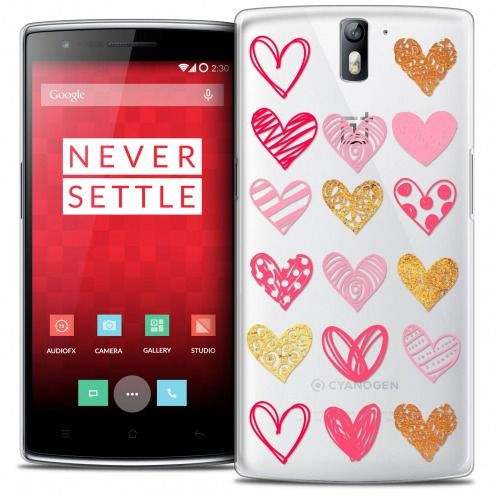 Extra Slim Crystal Rigide OnePlus One Case Sweetie Doodling Hearts