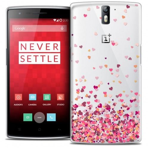 Extra Slim Crystal Rigide OnePlus One Case Sweetie Heart Flakes