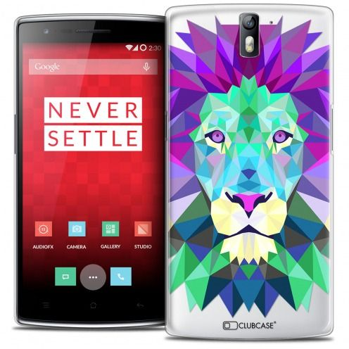 Extra Slim Crystal Rigide OnePlus One Case Polygon Animals Lion