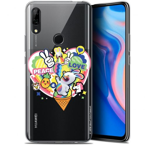 """Gel Huawei P Smart Z (6.6"""") Case Lapins Crétins™ Peace And Love"""