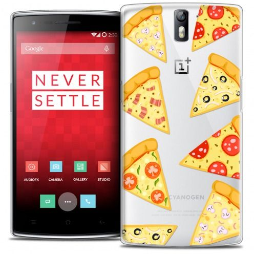 Extra Slim Crystal Rigide OnePlus One Case Foodie Pizza