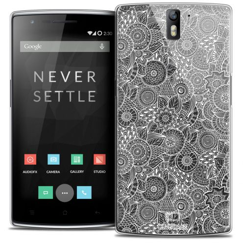 Extra Slim Crystal Rigide OnePlus One Case Floral Lace Collection - White