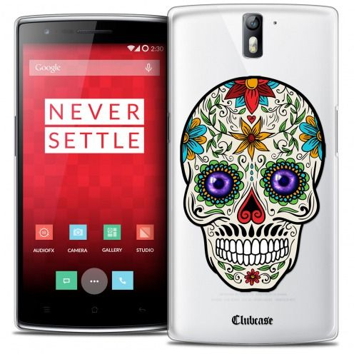 Extra Slim Crystal Rigide OnePlus One Case Skull Maria's Flower