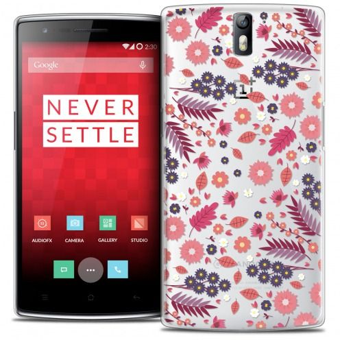 Extra Slim Crystal Rigide OnePlus One Case Spring Floraison