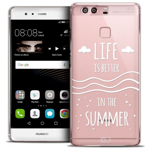 Extra Slim Crystal Rigide Huawei P9 Case Summer Life's Better