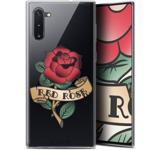 "Extra Slim Gel Samsung Galaxy Note 10 (6.3"") Case Tatoo Lover Red Rose"