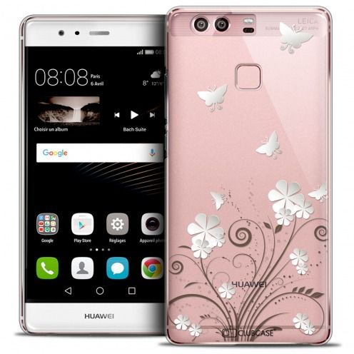 Extra Slim Crystal Rigide Huawei P9 Case Summer Papillons