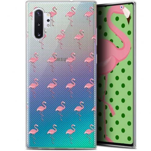 """Extra Slim Gel Samsung Galaxy Note 10+ / Plus (6.8"""") Case Pattern Les flamants Roses Dots"""