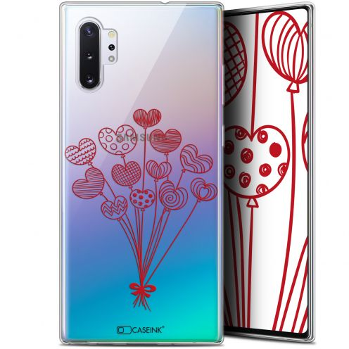 "Extra Slim Gel Samsung Galaxy Note 10+ / Plus (6.8"") Case Love Ballons d'amour"