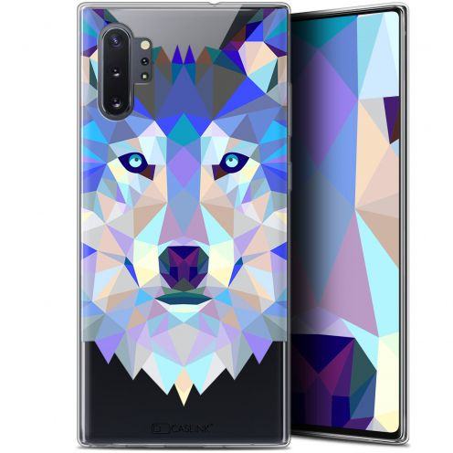"Extra Slim Gel Samsung Galaxy Note 10+ / Plus (6.8"") Case Polygon Animals Wolf"