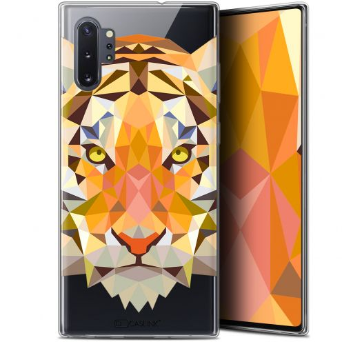 "Extra Slim Gel Samsung Galaxy Note 10+ / Plus (6.8"") Case Polygon Animals Tiger"