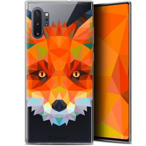 "Extra Slim Gel Samsung Galaxy Note 10+ / Plus (6.8"") Case Polygon Animals Fox"